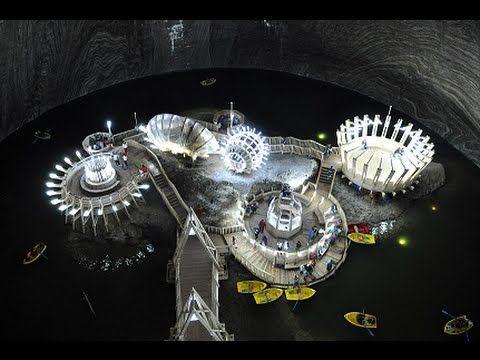 Rudolf Mine Theme Park at 137ft Deep Underground in a Romanian Salt Mine