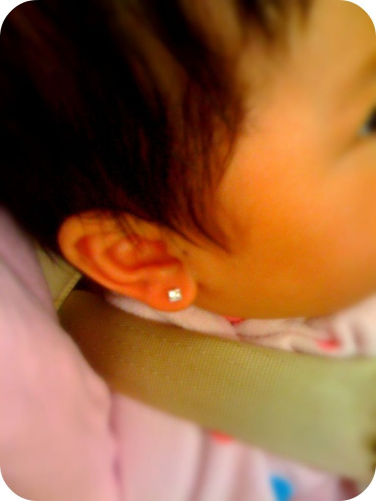 Baby ear piercing tips...angry Nana here...DONT DO THIS! IT HURTS! let it be HER choice. Might as well tatoo her!