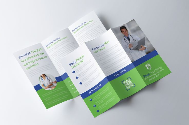 Medical Trifold Brochure by Psd Templates on @creativemarket