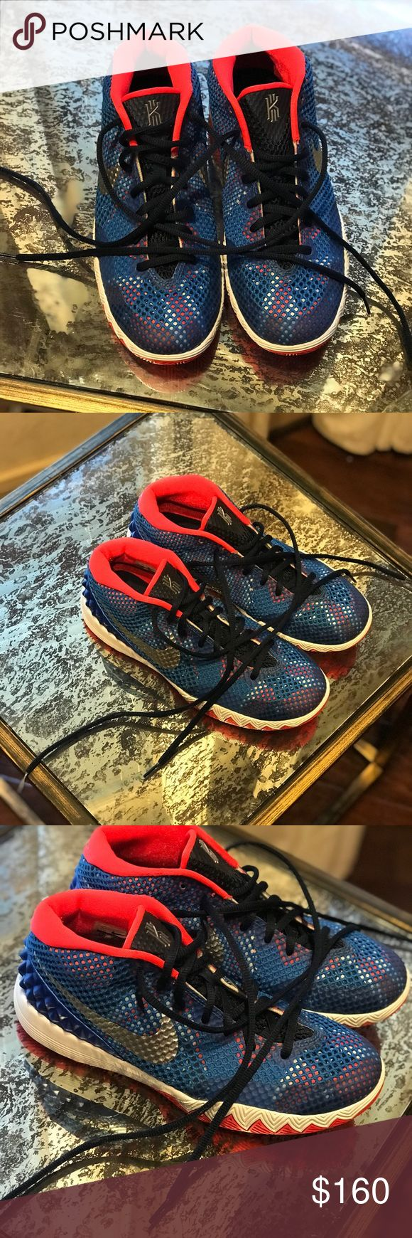 Kyrie Irving 1 Elizabeth Edition 6.5 Youth Nike Kyrie Irving 1 Elizabeth Edition Size 6.5 Youth (Big Boy) Nike Sneaker Sneakers Tennis Shoe Great Condition Clean toes Clean Soles Clean Inside Laces are fresh Minimal wear on blue heel spikes, see last photo Nike Shoes Sneakers