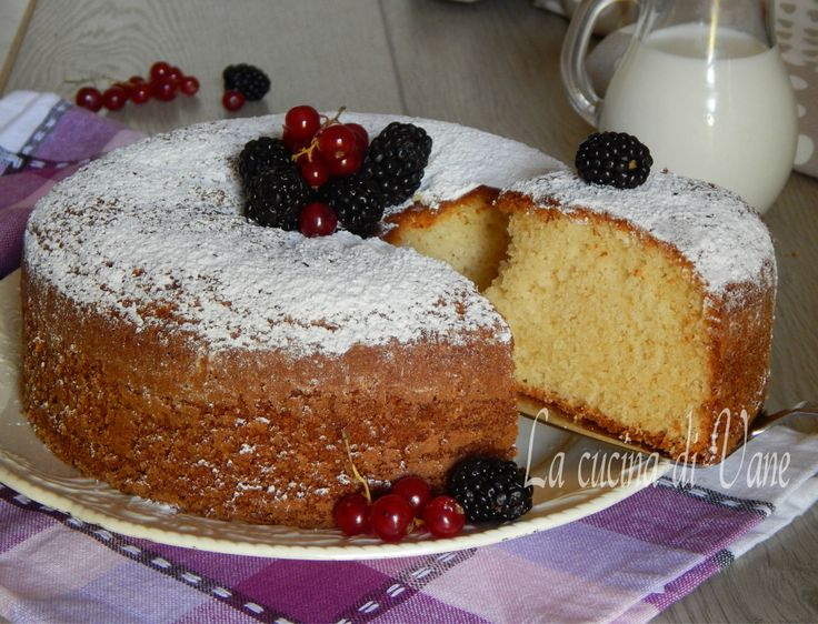 Torta al latte e yogurt