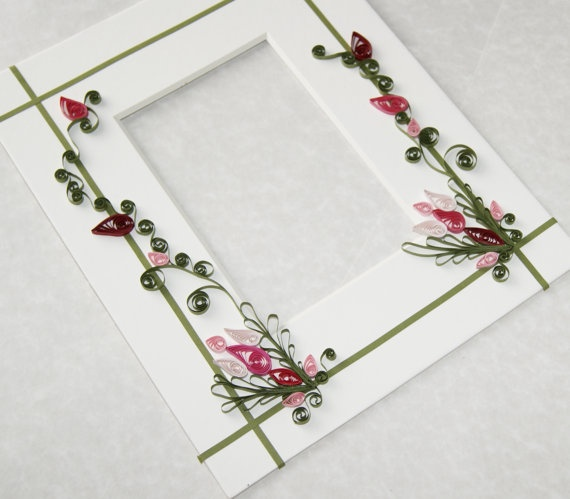 Hand Quilled Picture Frame Mat by Cornbreadbottomstore on Etsy