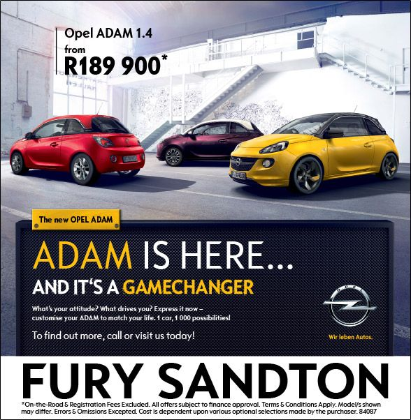 The All New Opel Adam from R189 900!