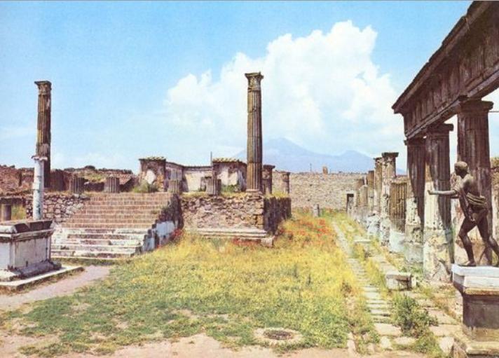 image of the temple of apollo in the pompeii forum