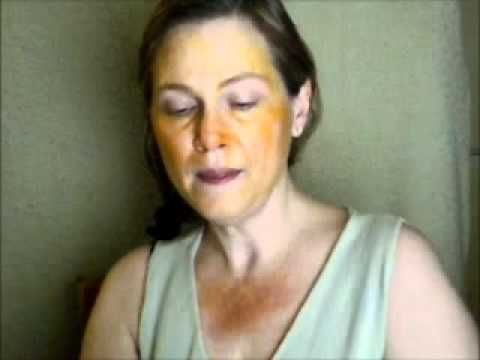 Turmeric for Face: Tina Jones uses turmeric and milk as a face mask and hand mask for age spot and under eye dark spot remover...Also she show you how to use a formula for an very light tint moisturizer for everyday use. Great video!