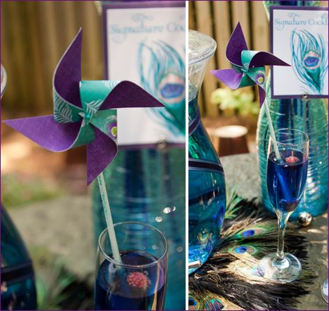Peacock Engagement Party by @Courtney Dial via Hostess with the Mostest.