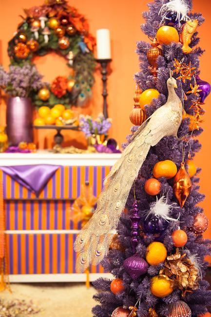 Orange and purple decorating ideas