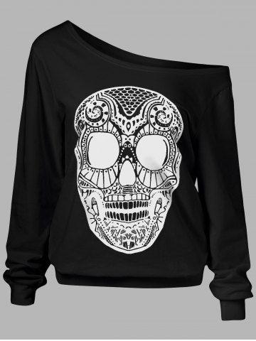 GET $50 NOW | Join RoseGal: Get YOUR $50 NOW!http://www.rosegal.com/plus-size-hoodies/skull-print-skew-collar-plus-1002596.html?seid=2275071rg1002596