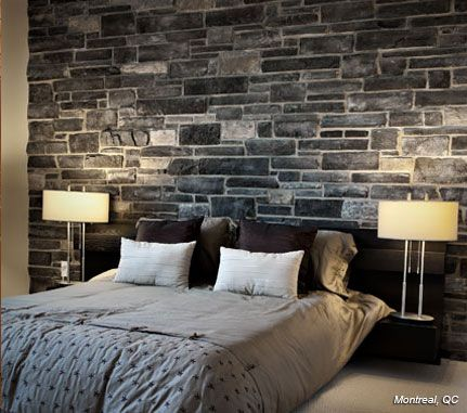 Bedroom: Black Rundle COUNTRY LEDGESTONE - Cultured Stone® Brand