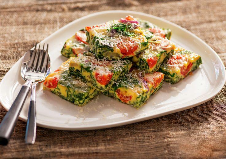 Frittata med tomat og spinat 1