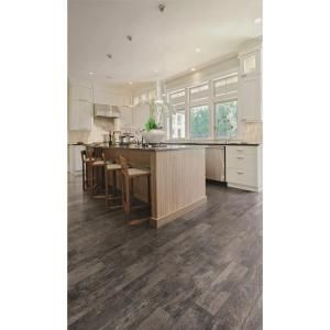 MARAZZI Montagna Smoky Black 6 in. x 24 in. Glazed Porcelain Floor and Wall Tile (14.53 sq. ft. / case)-ULM9 at The Home Depot
