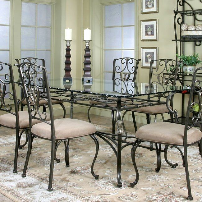 Wescot Rectangular Glass Dining Table Rectangular Dining Room