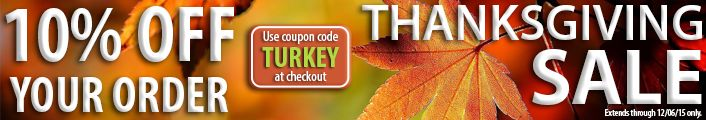Thanksgiving Sale @ MyNotions.com using coupon code TURKEY