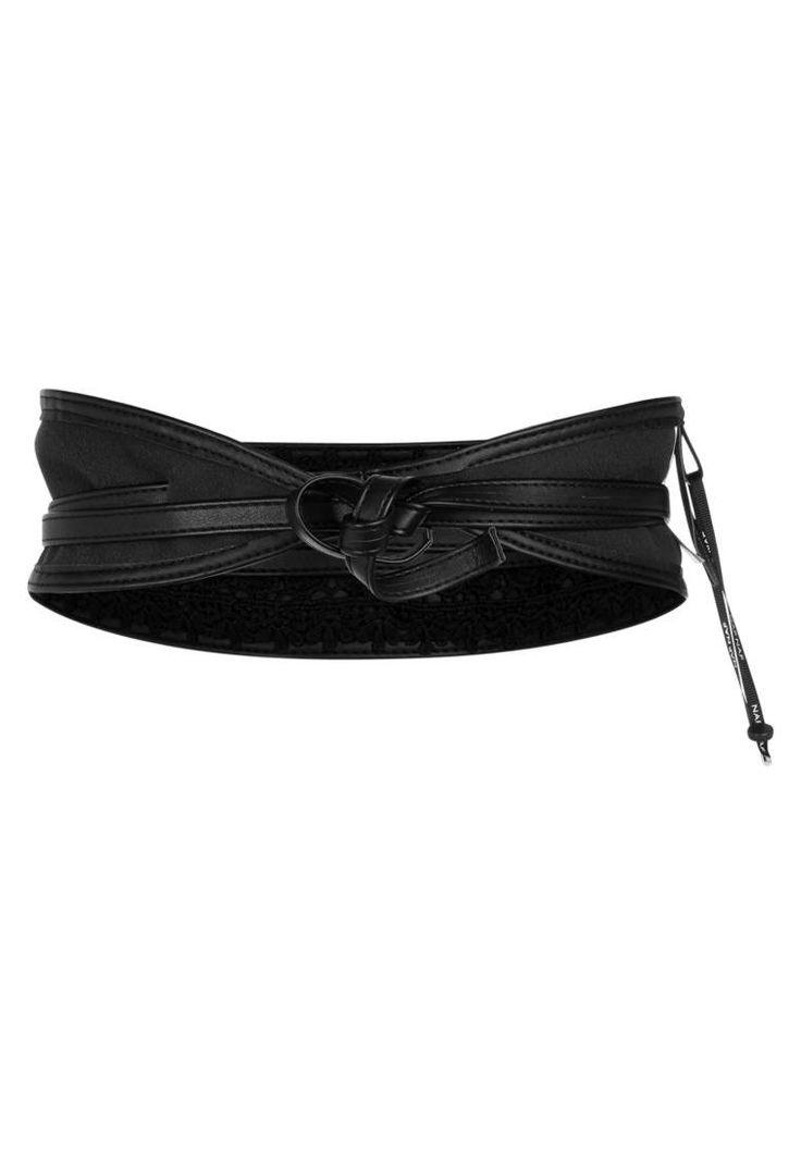 NAF NAF. SKIMONO MACRAME - Cintura - schwarz. #cintura #cinture #vitaalta #zalandoIT #fashion Composizione:60% Poliuretano, 40% Tessuto. Lunghezza:226 cm nella taglia 90. Chiusura:Nodo. Altezza del modello:La persona nella foto è alta 172 cm e veste una taglia 90. Larghezza:8 cm nella tagli...
