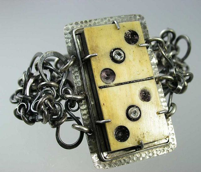 Sterling Silver and Domino Cuff | Flickr - Photo Sharing!