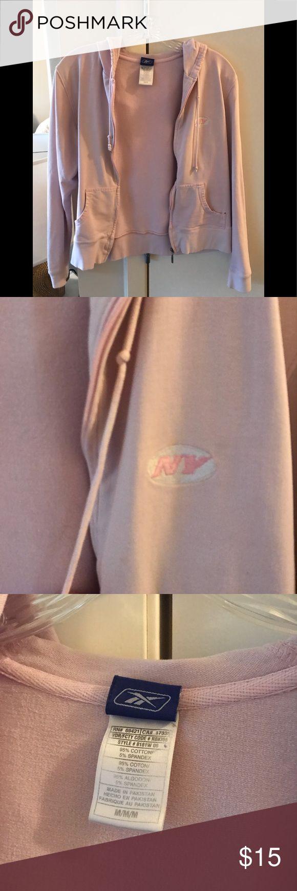 NJ Jets Zip Up Well loved! Reebok Sweaters