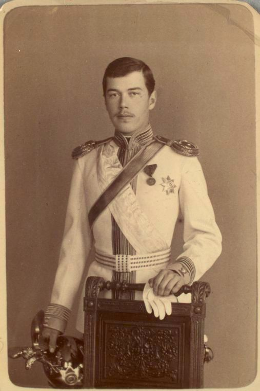 Tsarevich Nicholas (later Tsar Nicholas II).