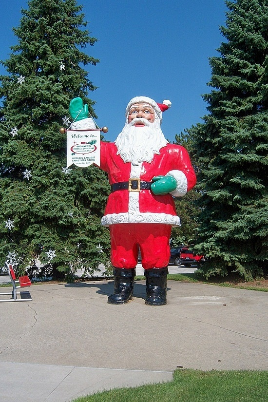 Every kid in Michigan has had their picture taken in front of the big Santa at Bronner's.  Including me, and later my kid.
