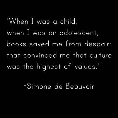 Simone de Beauvoir...