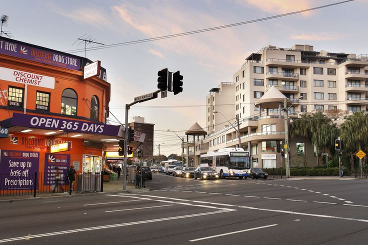 Beautiful shot of Victoria Road, West Ryde at dusk. Such a pretty sunset! #WestRyde #RydeLocal  #CityofRyde #Dusk #Sunset