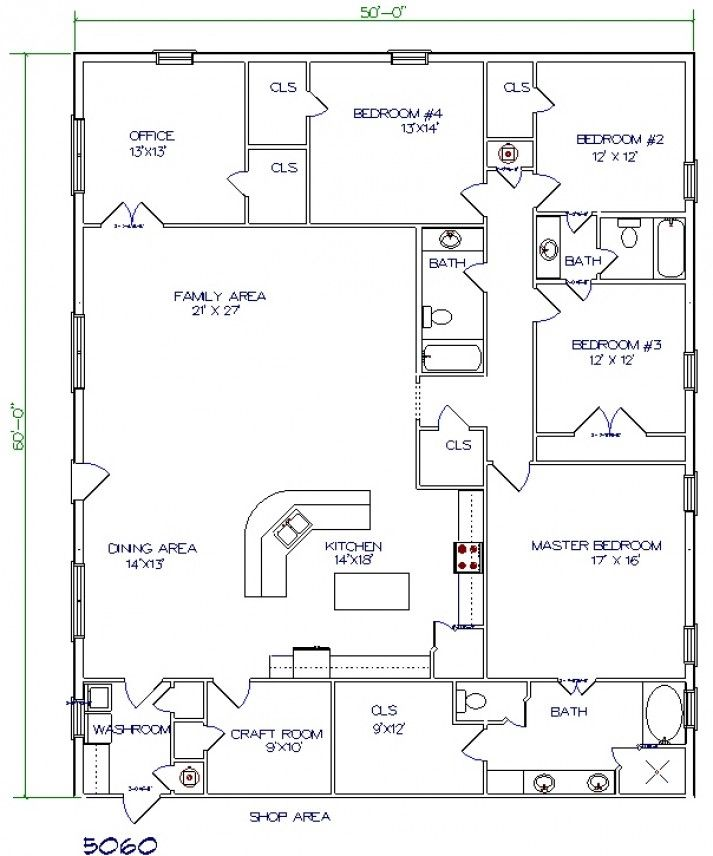 Image Of Barn With Living Quarters Floor Plans