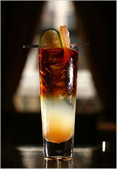 The Dark 'n Stormy...another favorite drink.  Had too many of these on the honeymoon.