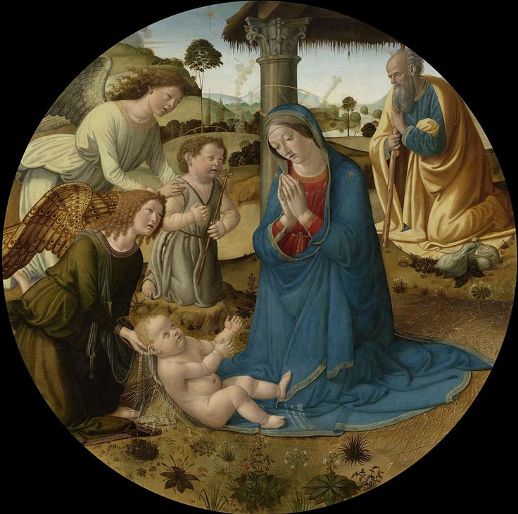 De aanbidding van het Christuskind, Cosimo Rosselli, ca. 1485 - ca. 1507