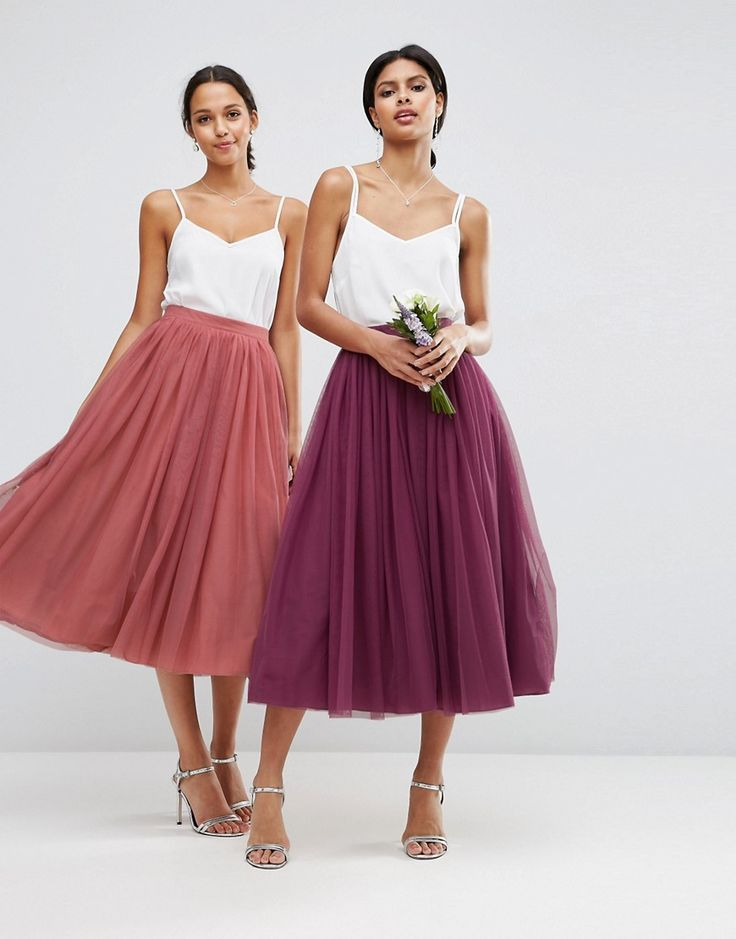 Image 3 ofASOS WEDDING Tulle Prom Skirt with Multi Layers