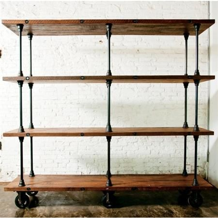 Reclaimed Timber For Shelves Add Plumbing Pipes And