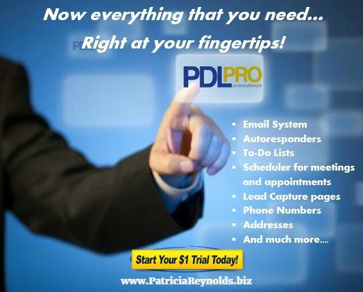 Do you need a Proven System to Grow your Business in 2016?  The PDLpro Online Contact Management System has a centralized location for your contact information, email integration, scheduling of appointments and meetings, notes and conversation, drip marketing, and more.    PDLpro: The Proven SYSTEM to Grow Your Business!    Try it for $1.00 for 30 days then just $19.95 per/mo!