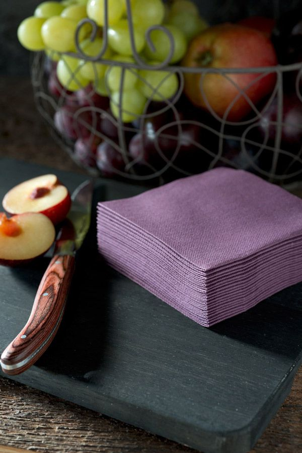 plum unicoloured - napkins for goodfoodmood duni