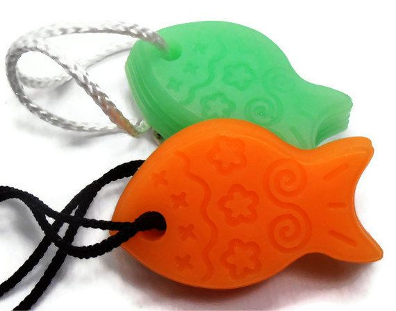 Great idea:  make these in fun Christmas shapes for hanging on tree, then use for soap afterwards!   Kids Soap - Funny Fish Soaps - Soap on a Rope - Vegan on Etsy, $5.50