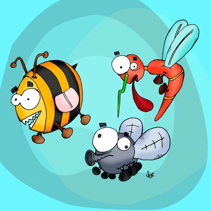 #bichos #bee #mosca #mosquito #abeja #dibujo #ilustracion #BuenMartes