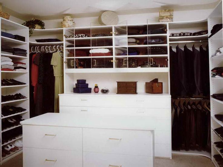 Interior, Exquisite Small Walk In Closet Ideas With White Stained Wooden  Drawer Also White Stained Wooden Rack And Metal Stick Cloth Hanger : Small  Walk In ...