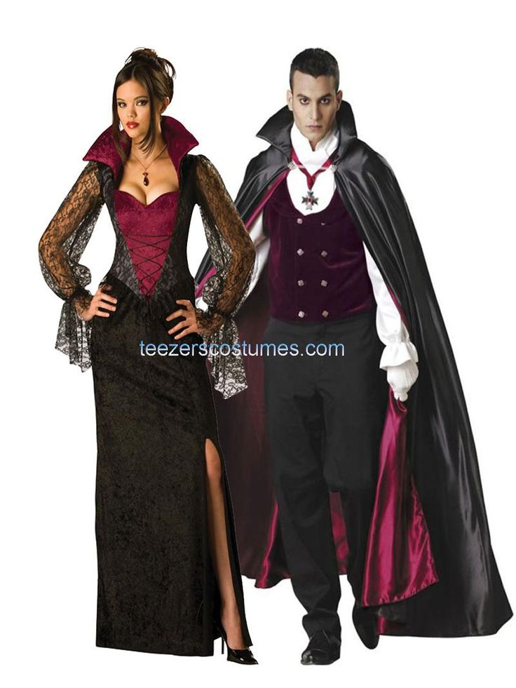 Vampire and Vampiress Couples Costumes available at Teezerscostumes.com