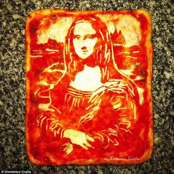 domenico crolla pizza art mona lisa