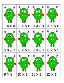 Fern Smith's Classroom Ideas!: Go Fish - Multiplication Card Games - Three and Six Times Tables Mixed!