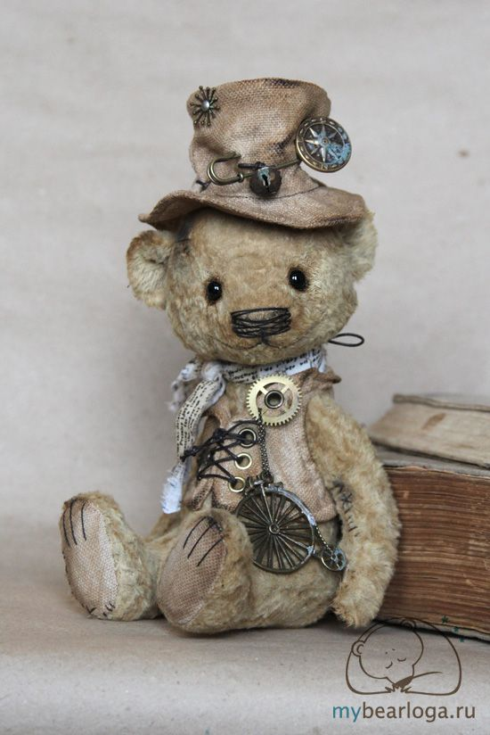 "steampunktendencies: ""Steampunk Teddy Bears By Elena Kamatskaya """