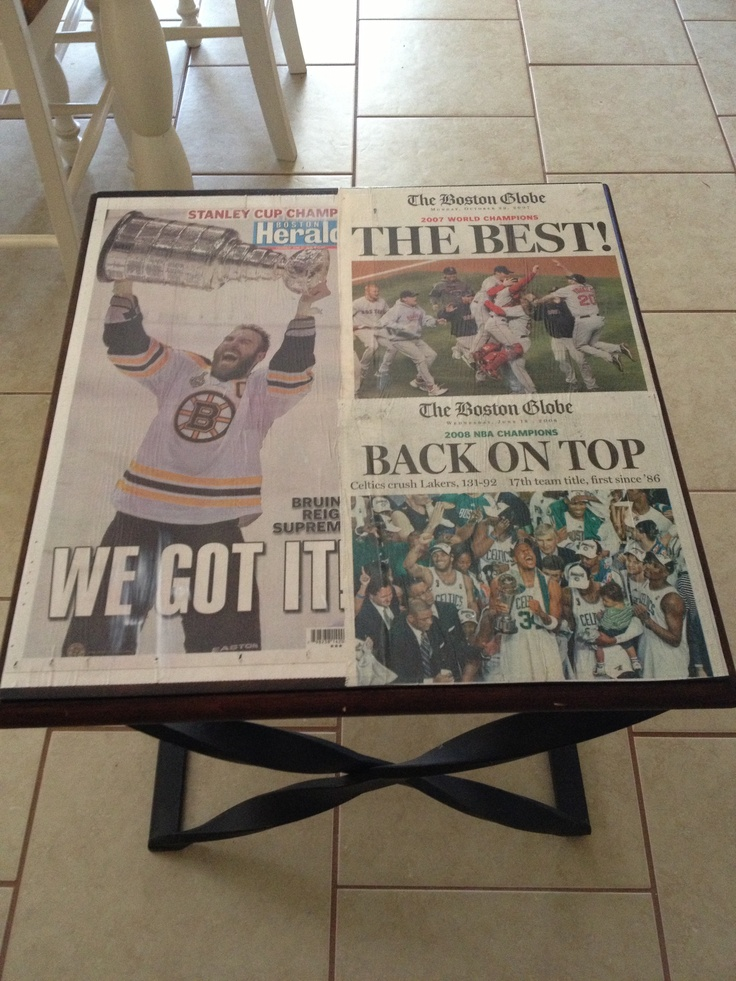 Basic End Table Turned Man Cave Sports Table!