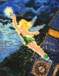 MCG Textiles Tinker Bell Latch Hook Rug Kit, 21x26 by MCG Textiles. Save 12 Off!. $39.60. 3-3/4-mesh rug canvas. Thomas kinkade's disney dreams collection. 3.75 mesh rug canvas. Includes pre-cut acrylic rug yarn color chart and easy-to-follow instructions.. Tinker Bell latch hook rug kit. Finished size 21 by 26-inch(53.3x66.0cm). Kit comes with acrylic pre-cut acrylic rug yarn, 3.75 mesh rug canvas, color chart and easy-to-follow instructions. Latch hook tool not included. Tinker Bell…
