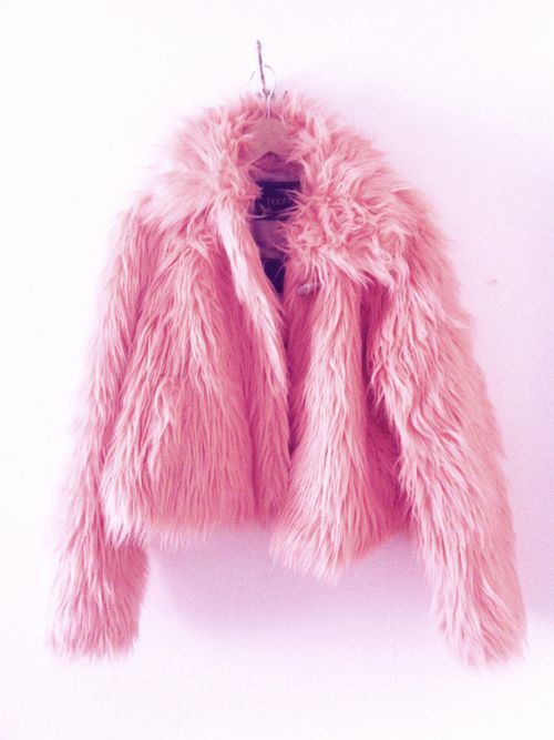 I had a pink fuzzy coat just like this in 2003!