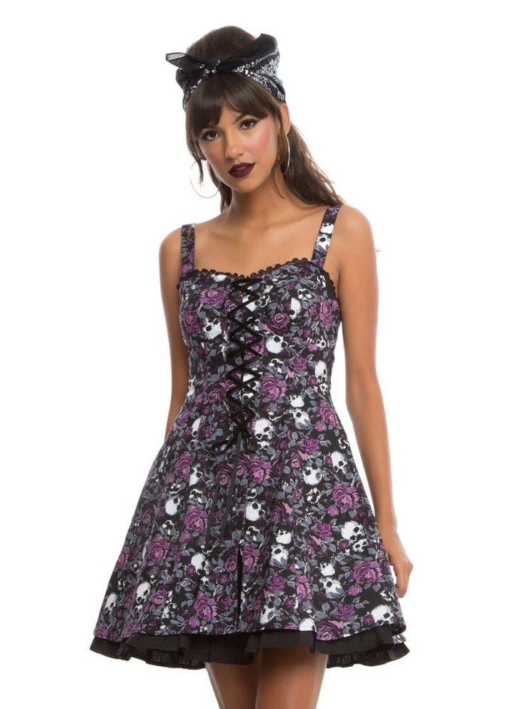 #PurpleFloralandSkullDress #SkullsandFlowersDress #SkullDress #JoSam1129 #HalloweenDress  Purple and Black Floral and Skull Dress - Skulls and Flowers Dress - Skull Dress #FloralandSkullDress