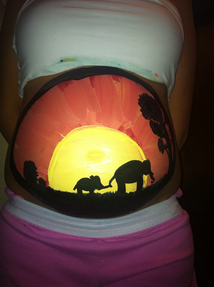 elephants belly painting www.hierishetfeest.com