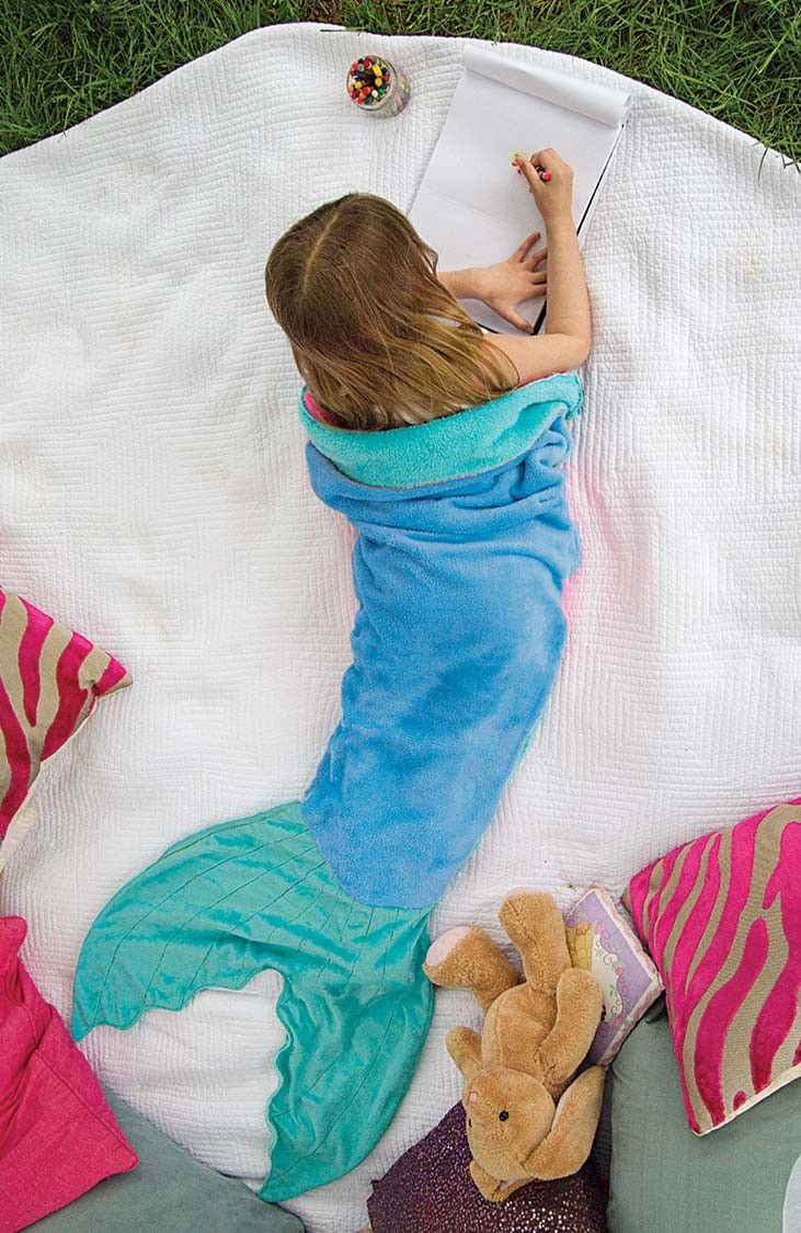 Mermaid Blanket by Blankie Tails - Aqua - Blankie Tails - 2