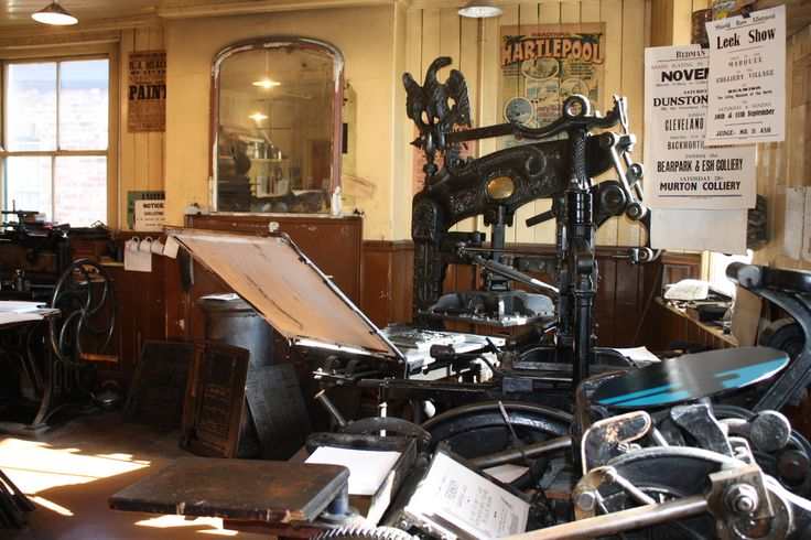 Columbia Press built 1837 and still being used today at Beamish living history museum, County Durham UK