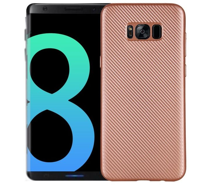 Coque Samsung Galaxy S8 Fibre de Carbone - Or Rose