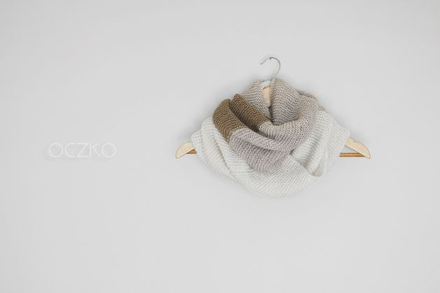 Knitted – Chunky Knit Cowl, Multicolor Infinity Scarf – a unique product by OczkOhandmade on DaWanda