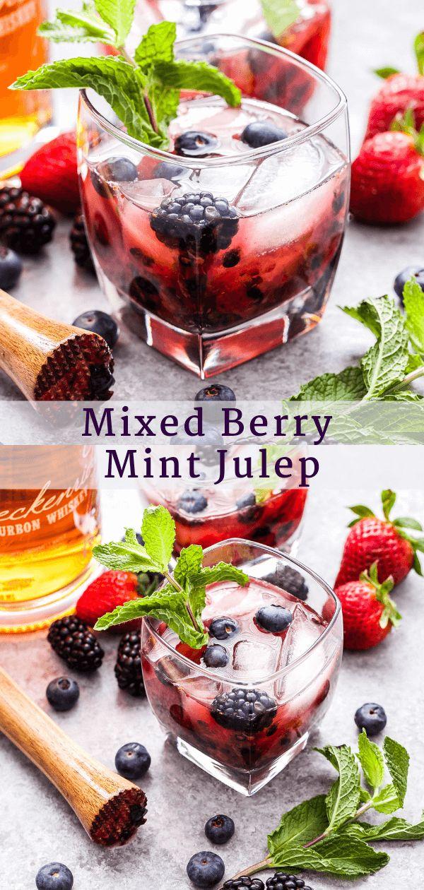 Nippen Sie an einem Mixed Berry Mint Julep während des diesjährigen Kentucky Derby oder zu jeder Zeit …
