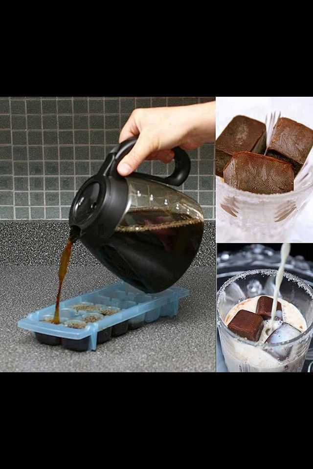 Coffee ice cubes... Great with my Ice Coffee