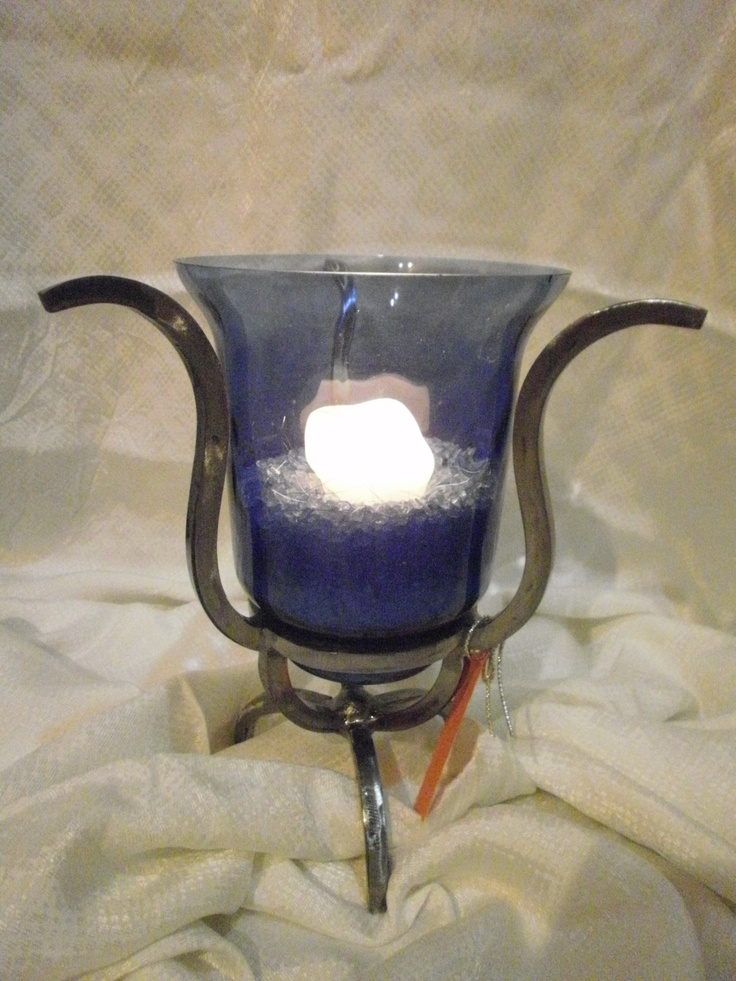 Candle holder homemade creations pinterest for Homemade candle holders